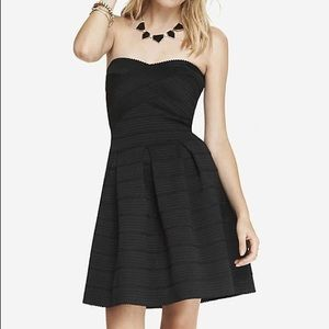 NWT Express black bandage fit and flare dress, XS